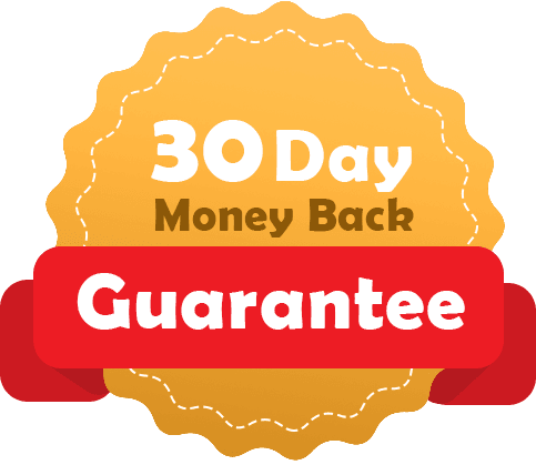 badge with the text 30 day money back guarantee