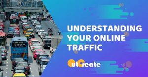 hiigh traffic on highway with the text understanding your online traffic